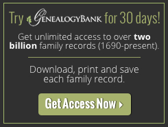 Subscribe to GenealogyBank Newsletter