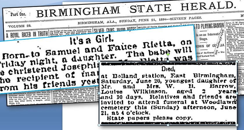 Alabama Newspaper Archives Articles Collage