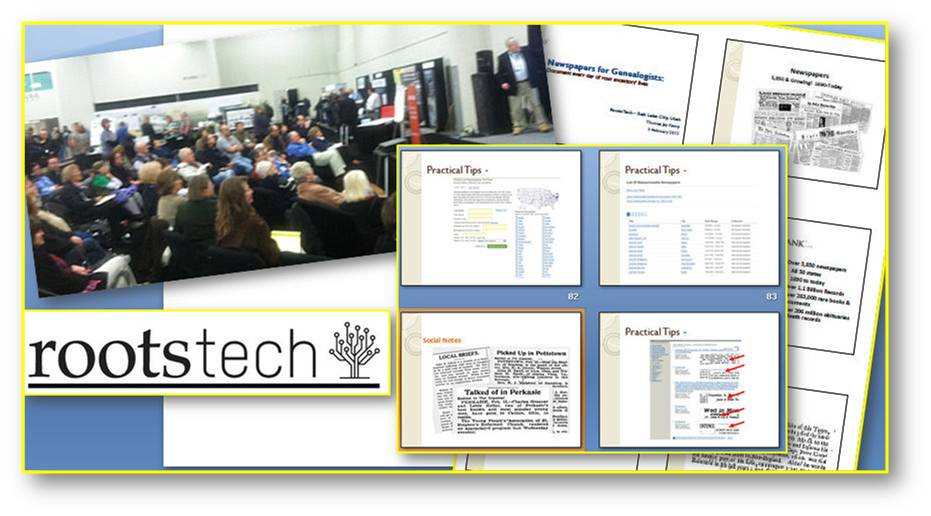 Newspapers for Genealogists: Document Every Day of Your Ancestors' Lives | GenealogyBank 2012 RootsTech Presentation