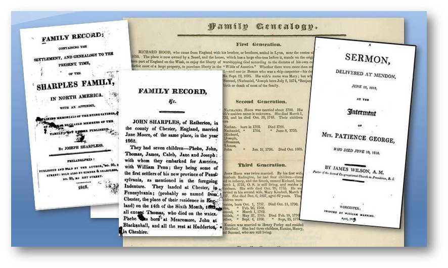 Old Family Genealogy Records & Funeral Sermon