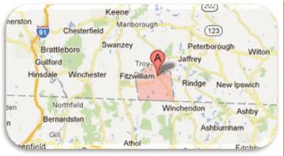 map of fitzwilliam new hampshire