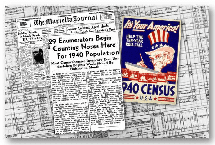 1940 U.S. Census Newspaper Articles from the Marietta Journal April, 2 1940