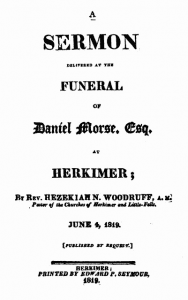 Daniel Morse Funeral Sermon Outline June 04, 1819