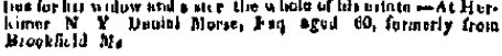 Daniel Morse Obituary - The Connecticut Mirror Newspaper June 21, 1819