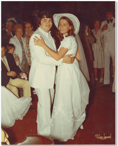 Mr. & Mrs. Scott Phillips Wedding Photo 1975