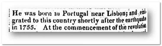 John Peters Obituary - Born in Portugal - Alexandria Gazette