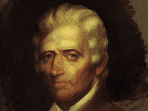 Portrait: Daniel Boone, by Chester Harding, June 1820. Credit: Massachusetts Historical Society; Wikimedia Commons.