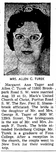 Margaret Ann Tager Marriage Announcement