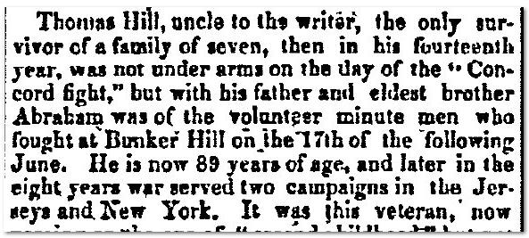 Thomas Hill New Hampshire Gazette Newspaper