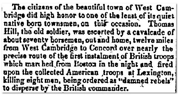 Thomas Hill New Hampshire Gazette Newspaper 1850