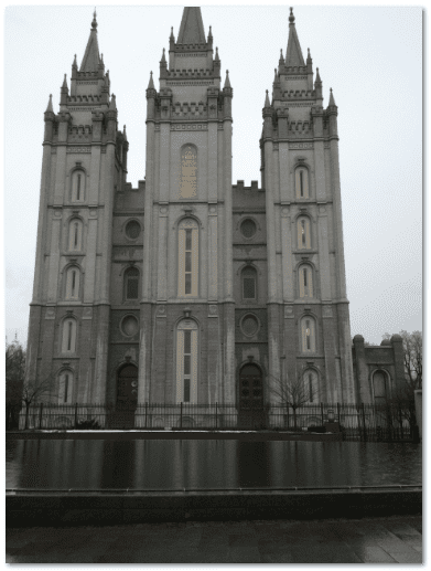 photograph of Salt Lake Temple, Church of Jesus Christ of Latter-day Saints, Salt Lake City, Utah