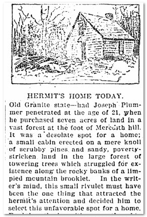 Hermit's Home Today, Broad Ax newspaper article 21 May 1898