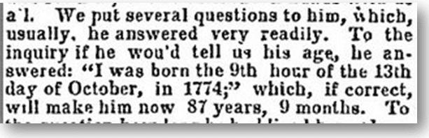 New Hampshire hermit Joseph Plummer, Deseret News newspaper article 15 October 1862