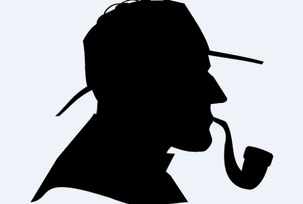 Illustration: a drawing of detective Sherlock Holmes