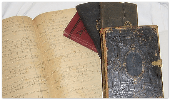 photo of Ransom Smith's Bible and journals