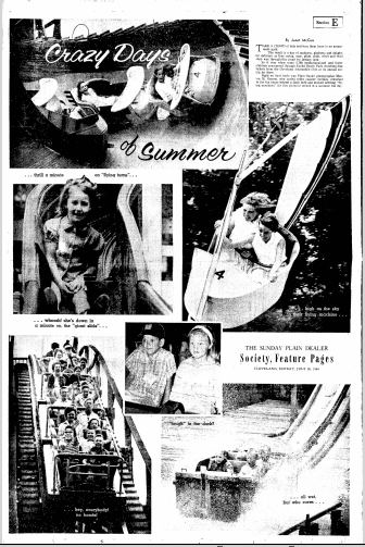 Crazy Days of Summer, Plain Dealer newspaper article 26 July 1964