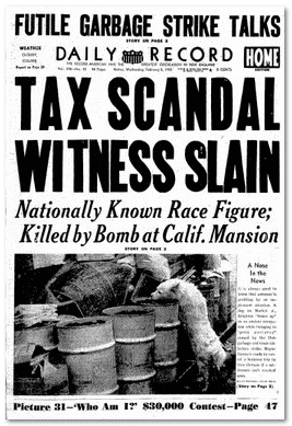front page of an issue of the Boston Daily Record, a newspaper newly added to GenealogyBank's online archives