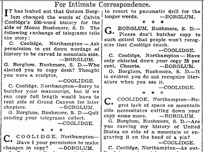 For Intimate Correspondence, Seattle Daily Times newspaper article 29 May 1930