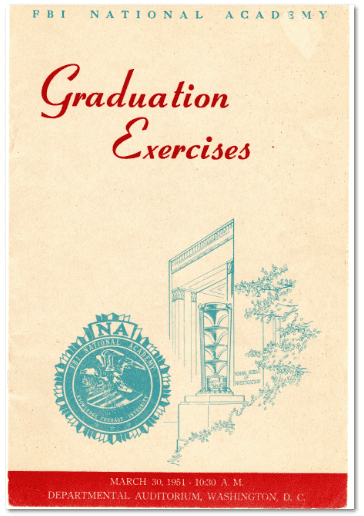 ephemera example: graduation exercises brochure