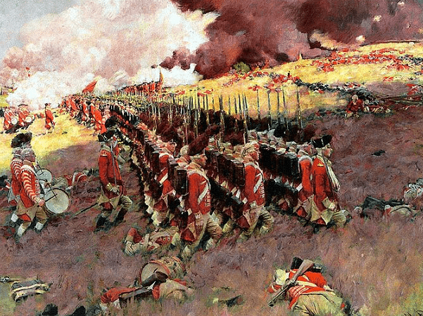"Illustration: ""The Battle of Bunker Hill,"" by Howard Pyle, 1897. Credit: Wikimedia Commons."