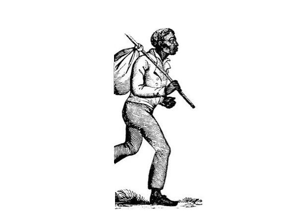 Illustration: runaway slave. Credit: Eco.Soul.Intellectual.