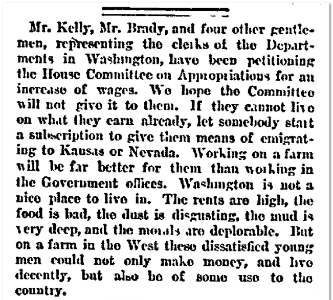 Horace Greeley editorial, New York Herald-Tribune newspaper article 13 December 1867