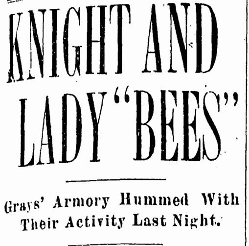 "Knight and Lady ""Bees,"" Cleveland Leader newspaper article 18 January 1900"