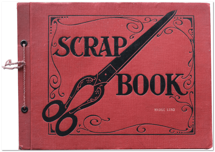 photo of a scrapbook