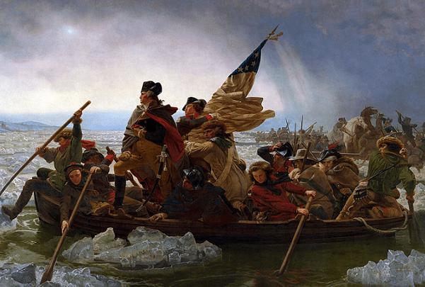 "Painting: ""Washington Crossing the Delaware,"" by Emanuel Leutze. Credit: The Metropolitan Museum of Art; Wikimedia Commons."