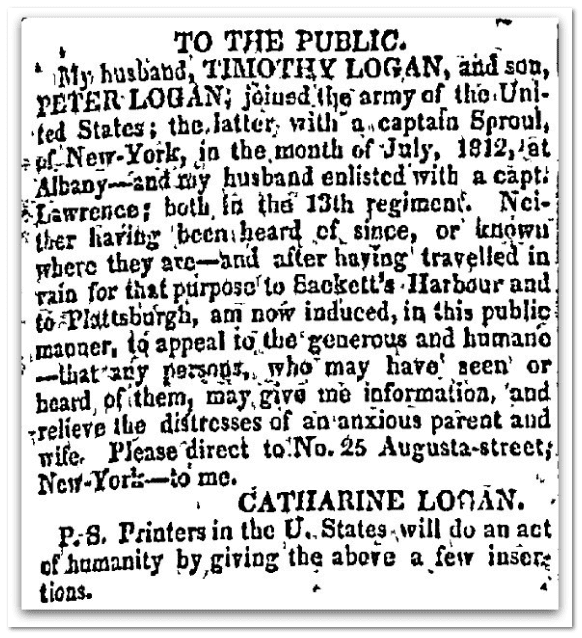To the Public, National Advocate newspaper article 8 November 1816