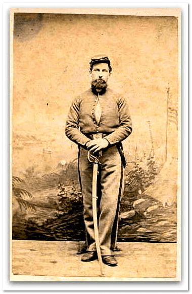 photo of Mathew Brayton in Civil War uniform