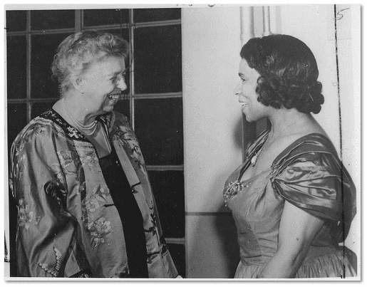 photo of Eleanor Roosevelt and Marian Anderson