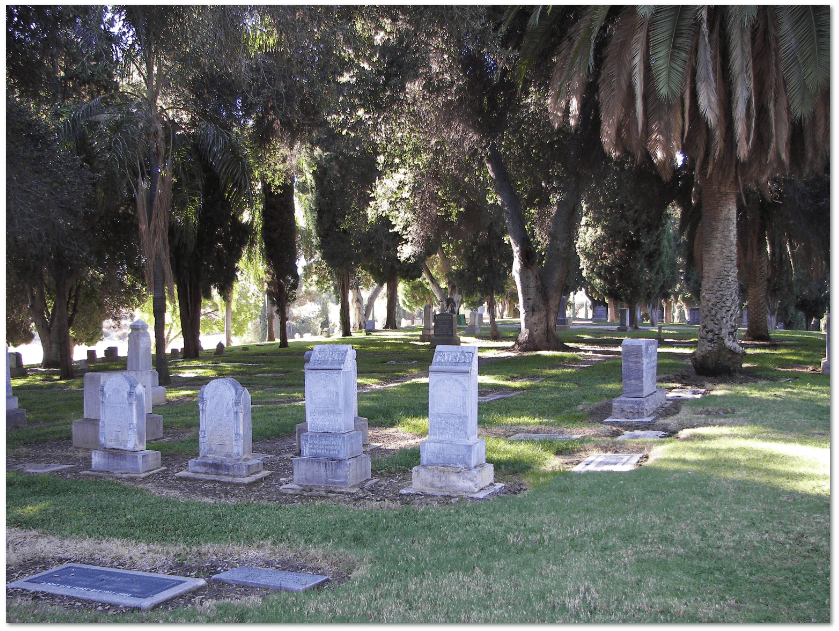 photo of a cemetery in California