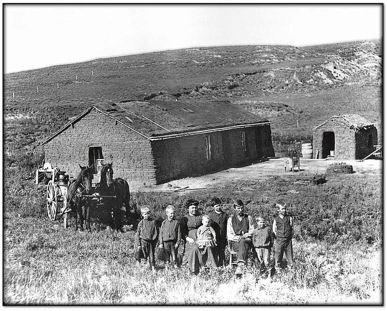 photo of 19th century Nebraska homesteaders