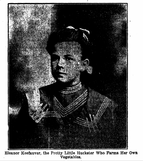photo of Eleanor Keefauver, huckster, Plain Dealer newspaper article 12 July 1903