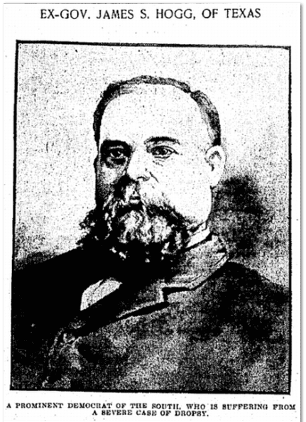 photo of James S. Hogg, Baltimore American newspaper photograph 19 October 1905