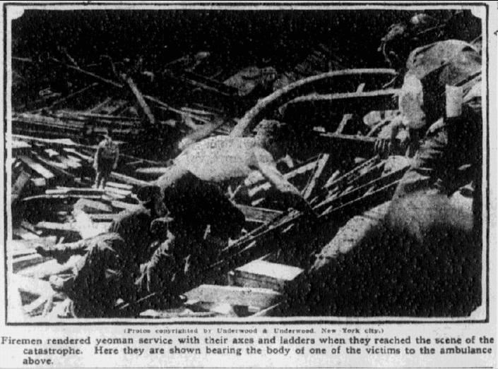 Boston firemen, Boston Journal newspaper photo 23 September 1915