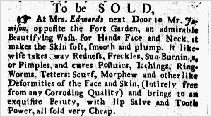 To Be Sold, New-York Weekly Journal newspaper advertisement 29 March 1736