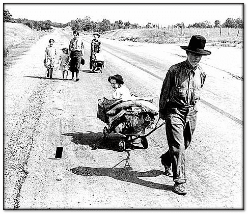 photo of a migrant family in Oklahoma, 1936