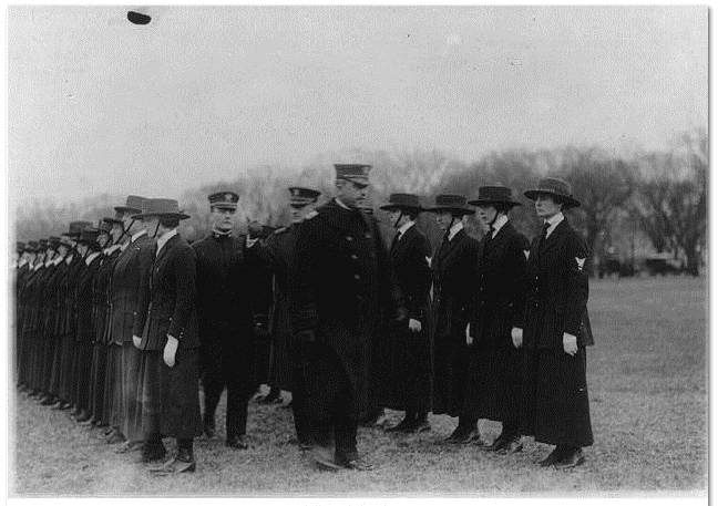 """photo of """"Navy Girls on Review"""" c. 1918"""