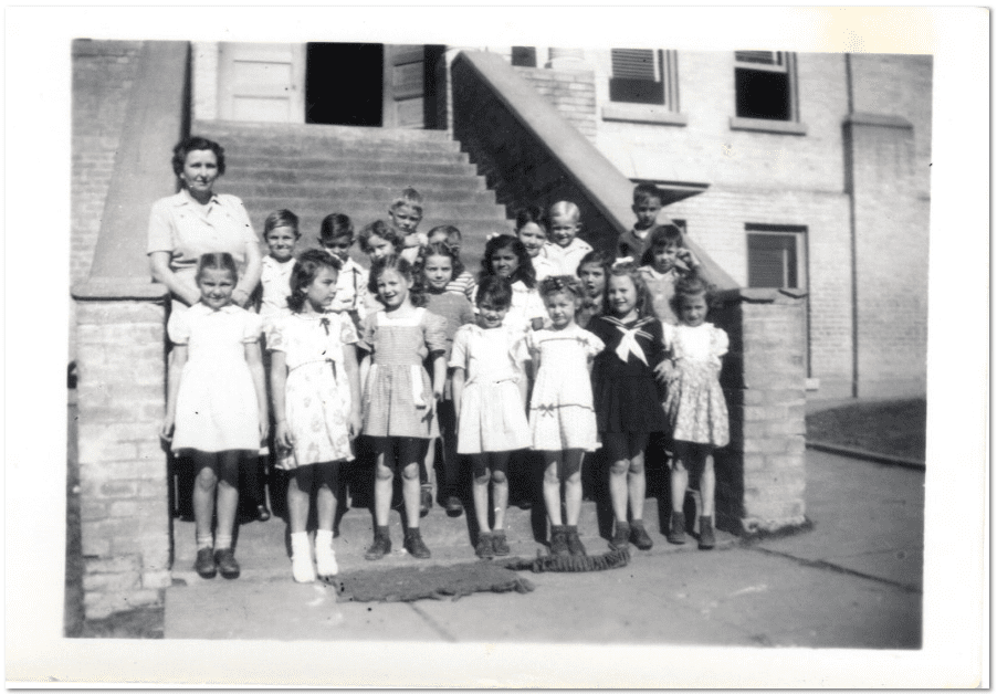 old photo of children from Gena Philibert-Ortega's collection
