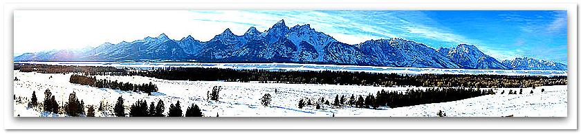 photo of the Teton Range, Grand Teton National Park, Wyoming
