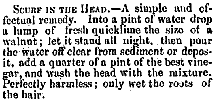 Scurf in the Head, Portsmouth Journal of Literature and Politics newspaper article 9 January 1875