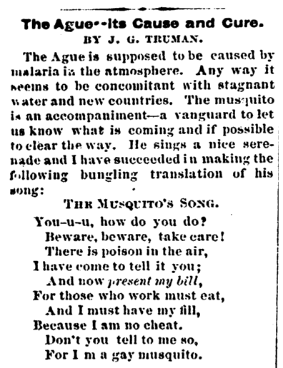The Ague--Its Cause and Cure, Progressive Communist newspaper article 1 October 1875