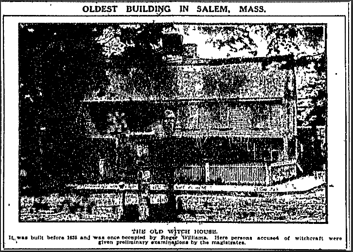Oldest Building in Salem, Mass., Anaconda Standard newspaper article 26 June 1914