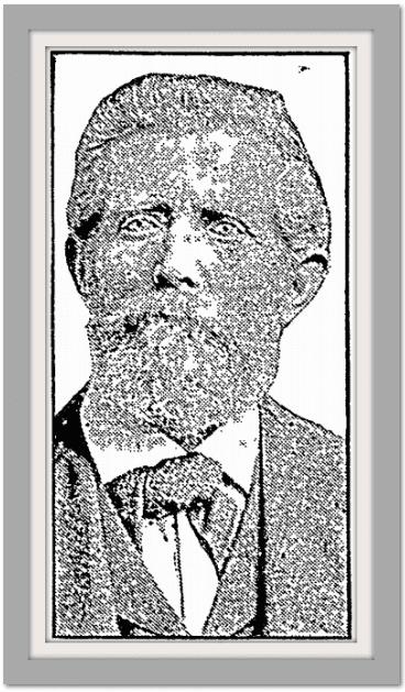 picture of Joseph Babington from his obituary, Idaho Statesman newspaper article 30 April 1922