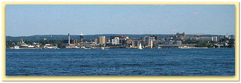 photo of the downtown skyline of Erie, Pennsylvania