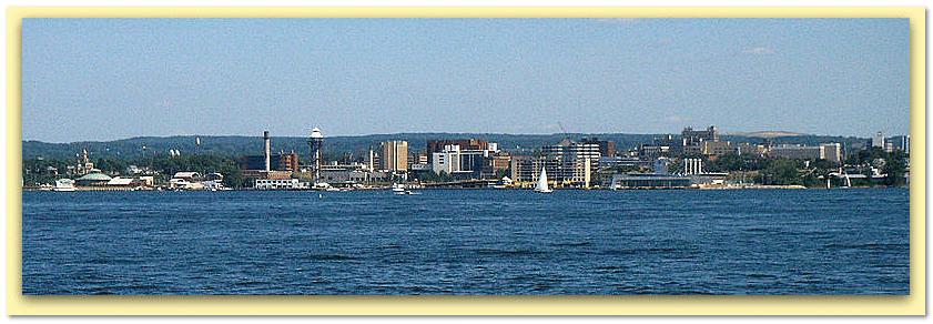 photo of the downtown skyline of Erie, Pennsylvania