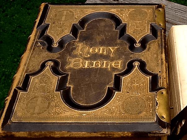 Photo: an old family Bible. Credit: Thomas Jay Kemp.