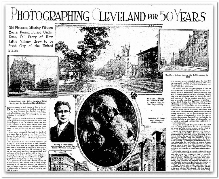 Photographing Cleveland for 50 Years, Plain Dealer newspaper article 27 December 1914
